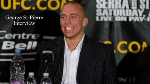 Interview with UFC Fighter Georges St-Pierre
