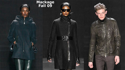 New York Fashion Week: Fall 2009 : Mackage